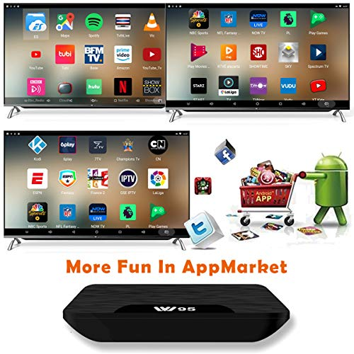 TV Box Android 7.1 -  VIDEN W2 Smart TV Box Amlogic S905X Quad Core,  2GB RAM & 16GB ROM,  4K*2K UHD H.265,  HDMI,  USB*2,  WiFi Media Player,  Android Set- Top Box [Versión Mejorada]