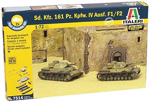 Italeri 510007514 - 1:72 Sonderkraftfahrzeuge 161, Panzerkampfwagen IV F1 Fast