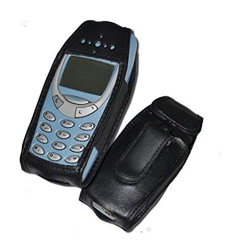 Platin-Power, Custodia in pelle nero per Nokia 3310, 3330 e 3410
