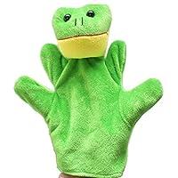 Lenfesh 1PC Finger Sack Plush Toy,Baby Child Zoo Farm Frog Animal Hand Glove Puppet Finger Sack Plush Toy