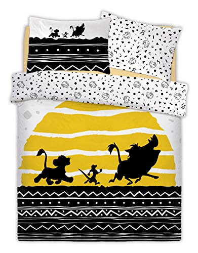 Lion King Parure de lit Double réversible Motif Disney The Tribal Sunrise