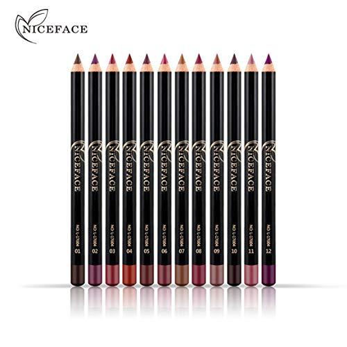 Niceface Nude Farbe Modified Lip Liner 12 Farbe wasserdichte Lip Liner