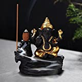 #4: JaipurCrafts WebelKart New Backflow Incense Burner Lord Ganesha Emblem Auspicious and Success Cone Censer Ceramic Home Decor Ganesha Stick Holders with Free 10 Backflow Cones