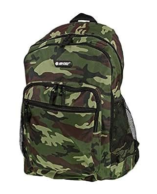 Boys Mens Hi-Tec Camouflage School Backpack Rucksack (Army Green/Army Grey/Desert) (Army Green)