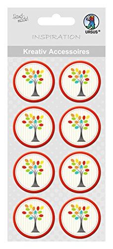 Ursus 564000294 Kreativ Accessoires Eden, 8 Stück, Baum