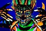 ' unsichtbares ' uv aktives Schwarzlicht Haargel Set blau grün rot