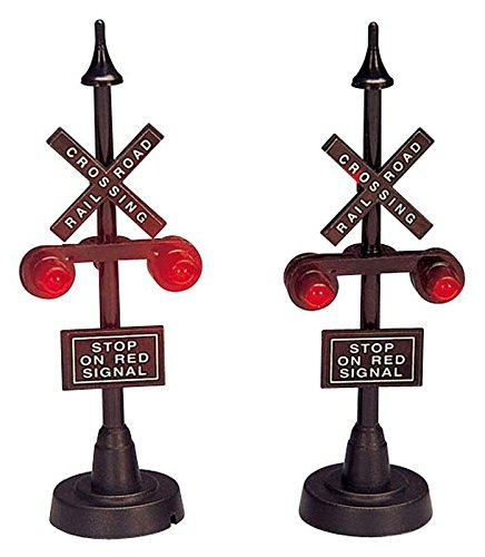 Lemax Set of 2 Railway Stop Lights by Lemax
