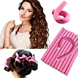 Out Of Box 10 pieces self holding Hair Curling Flexi rods Magic Air Hair Roller Curler Bendy Magic Styling Hair Sticks hair pin