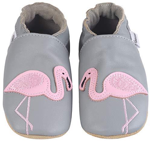 Kindsgut Krabbel-Schuhe, Kita, Baby, echtes Leder, Gr. 18/19, Flamingo - 20 Haus