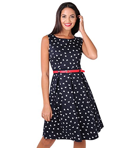 KRISP 6874-NVY-16 (Vestido Pin Up)