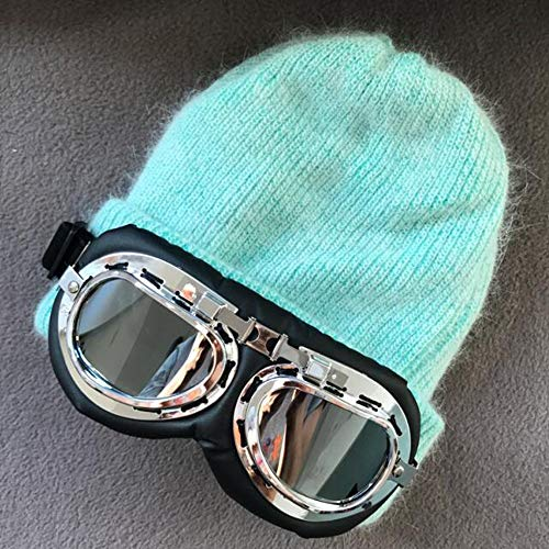TianMI Hut Baumwolle Winter's Hut Frauen Winddicht Brille Cap Men's Pilot Brille Ski Hut Mütze Unisex, C (Pilot Hut Steampunk)