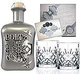 BOLT Gin Geschenk limitiert 1.250 Flaschen aus Deutschland Edelmanufaktur Luxus Dry Gin Silber Tresor wilde Bergamotte und Kardamom Geschenkset mit 2 Gläsern TOP Qualität