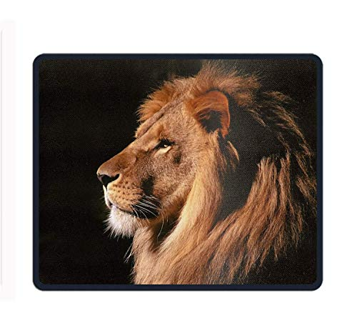 Animal Lion Cats Mouse Pad with Stitched Edges, Premium-Textured Mouse Mat Pad, Non-Slip Rubber Base Mousepad for Laptop, Computer & PC, 11.8