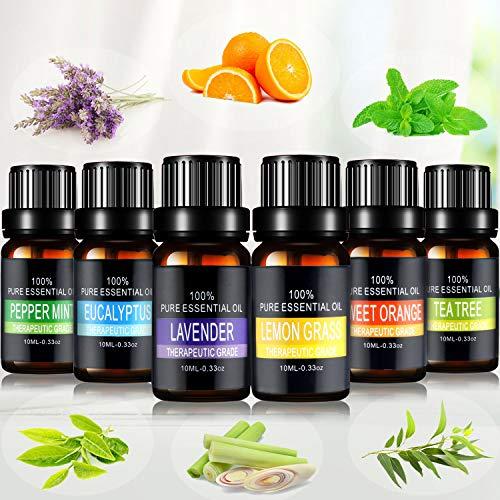 Aceites Esenciales, joylink 100% Natural Puro, 6 x 10 ml Set de Aceites Esenciales(Lavanda, Menta...