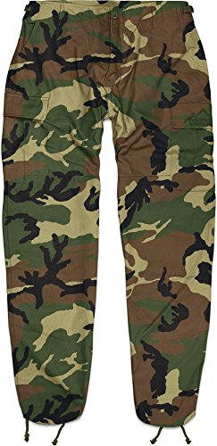 US Kampfhose BDU Rangerhose / Rip Stop Gewebe, S - 4XL Farbe Flecktarn Größe 3XL