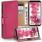 moex Samsung Galaxy S8 | Hülle Pink mit Karten-Fach 360° Book Klapp-Hülle Handytasche Kunst-Leder Handyhülle für Samsung Galaxy S8 Case Flip Cover Schutzhülle Tasche