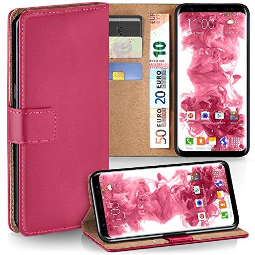 Samsung Galaxy S8 Hülle Pink mit Karten-Fach [OneFlow 360° Book Klapp-Hülle] Handytasche Kunst-Leder Handyhülle für Samsung Galaxy S8...