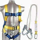MFZTQ Kit di protezione anticaduta, 2 moschettoni di sicurezza Anticaduta e moderazione imbracatura