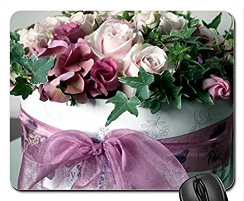 gift box and roses Mouse Pad, Mousepad (Flowers Mouse Pad)