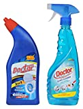#6: Doctor Brand Toilet Cleaner and Glass Cleaner, 1000 ml (Combo of 2)