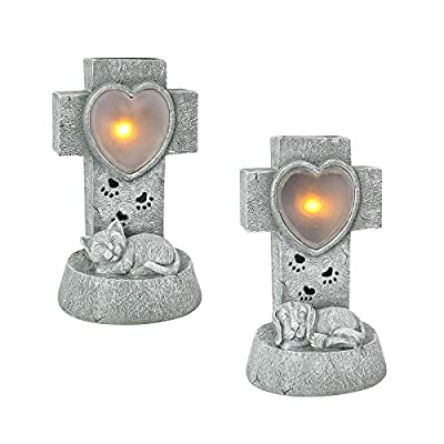 Memorial Gravestone - Dog - Solar Powered - Warm White LED - Outdoor by Festive Lights