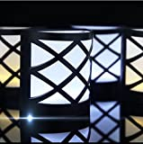 Etbotu LED Solar-Strahler Outdoor Zaun Garden Path Rasen Wandleuchte White Light 2