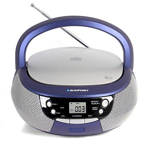 Blaupunkt B 3 PLL Boombox mit UKW PLL Radio | CD-Player | AUX IN / MP3 | Stereo-Lautsprecher | LCD-Display | Netz- und Batterie-Betrieb | Kinder Musikbox (Sirius Radio-home)