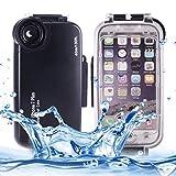 DELANSHI Handy Einfache Business Pure Farbe für iPhone 7 Plus 40m wasserdichte Tauchgehäuse PC +...