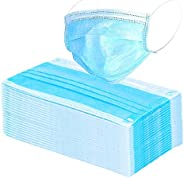 Woschmann-Disposable 3 Ply Non Woven Surgical Face Mask (Pack Of 50) (Blue) (Free Size)