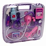 NMIT KIDS CHILDRENS NURSE DOCTORS MEDICAL PLAY SET ROLE PLAY FUN BOX (Purple)