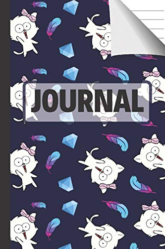 Journal: Cats, Feathers and Diamonds Lined Paperback Journal / Notebook for Girls, Teens and Women (Cat Gifts for Cat Lovers) (Diamond Co Girls)