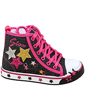 GIBRA® Sneaker für Mädchen, schwarz/pink, Gr. 25-30