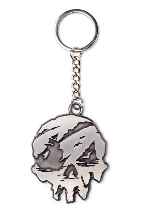 Sea Of Thieves Keychain Skull Metal Silver: Amazon.es: Juguetes y juegos