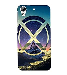HTC Desire 626G :: HTC Desire 626 Dual SIM :: HTC Desire 626S :: HTC Desire 626 USA :: HTC Desire 626G+ :: HTC Desire 626G Plus blue circle mountain blue sky wallpaper Designer Printed High Quality Smooth hard plastic Protective Mobile Case Back Pouch Cover by Paresha