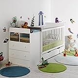 ALFRED & Compagnie Mitwachsendes Bett, Baby mit Schublade weiß 70x 140Ärmelbrett