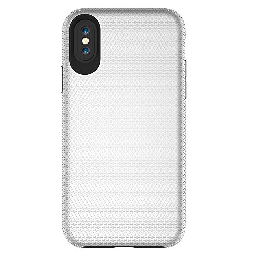 Dual Layer Double Schutz PC + TPU Drop Resistant Shockproof Hybrid Armor Shell Cover Case für iPhone X ( Color : Rosegold ) Silver