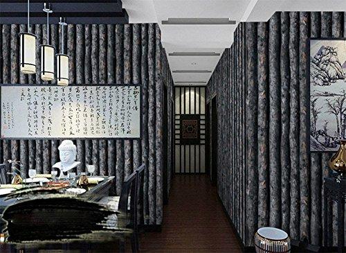 Retro-muster tapete, Dicke pvc dekorative tapeten, 3d dreidimensionale wald bäume hintergrundbilder, Café tapete-C