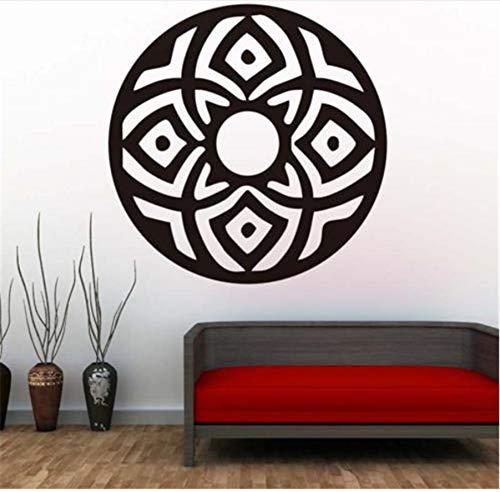 zwyluck Wandaufkleber Kreisförmige Abstrakte Indische Mandalas Wandaufkleber Vinyl Kunst Religion Muster Wand F Living Decor 44 * 44 cm - Abstrakte Kunst-muster