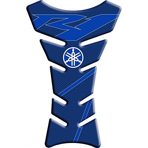 Tankpad Motorad Draht Muster Tankschutz ''Yamaha R1 Carbon-Klassik blau '' Polymer 3D (Yamaha R1 Tankpad)