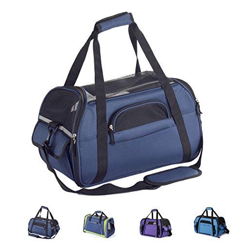 Zedelmaier Faltbare Hundetasche, Hundetragetasche, Katzentragetasche, Transporttasche Transportbox für kleine Hunde und Katzen 43 * 23 * 28H