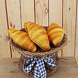 Merssavo 1 Satz Simulation Brot Spielzeug Künstliche Brot Gefälschte Realistische Lebensmittel Brot für Heimtextilien Display Requisiten mit Conch Brot, Schinkenbrot, Hamburger von Merssavo