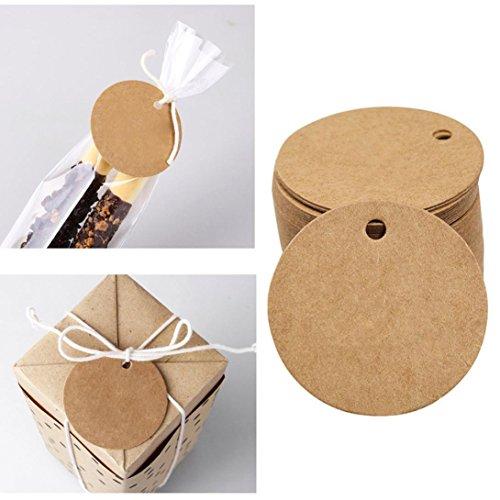 Mitlfuny 100 StüCk Kraftpapier Geschenk Tags HäNgen Etiketten Geschenk AnhäNger, Kraftpapier, HäNgeetiketten, PapieranhäNger