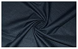 V Walkers Cotton Poly Blend Self Design Un-Stitched Trouser Fabric for Men (1.30 MTR_Grey_VST146)