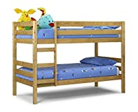 Happy Beds Wyoming Bunk Bed 3ft Single Solid Pine Wood 2x Mattress Furniture New