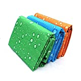 #9: Krevia Outdoor Camping Beach Travel Festival Water Resistant Foldable Picnic Blanket Mat Rug (150 X 180 inch)
