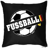 bedrucktes Fussball Fun Fan Sofa Kissen: Fussball - Geschenk Fußball Dekokissen Couchkissen Sofakissen Geburtstag Ostern Couch