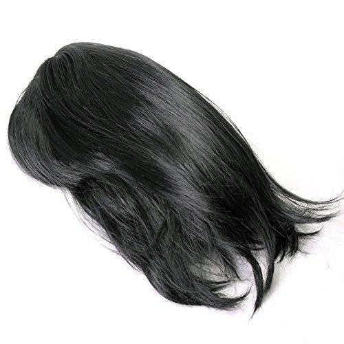 Noir Perruque Postiche Cheveux Bobo Courts Pour Femme Fêtes Soirée Bal Cosplay