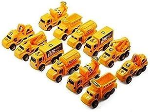 Amitasha Super Die Cast Racing JCB Construction Cars Play Toy Set for Kids - 12 Pcs