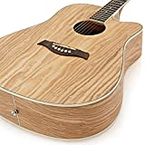 Guitare Acoustique Pan Coupé Dreadnought Deluxe par Gear4music Saule