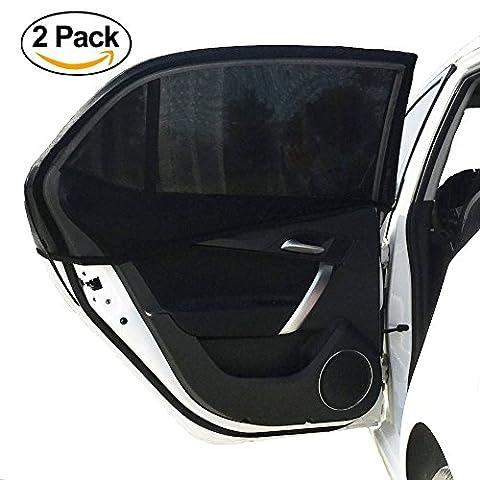 2x Pare-soleil de voiture | Compatible avec tous les | amovible facile installer | protection UV | haute qualité Dense en maille | côté Vitre arrière | Charm Maison des Améliorations